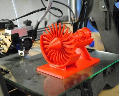 Modello di turbina realizzato dalla stampante 3d Kentstrapper Galileo Smart