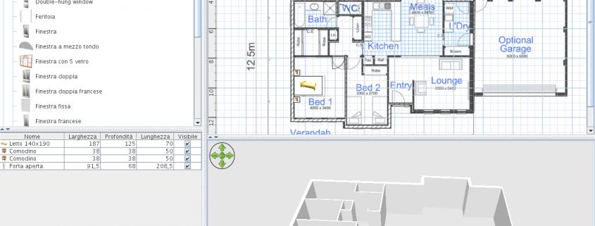 Sweet home 3d stampare modelli di interni di casa facile for Software progettazione interni 3d