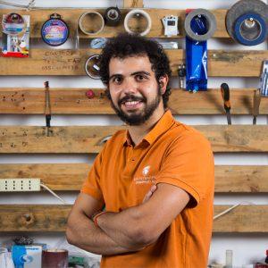 Lorenzo Cantini, il chief product officer e co-founder di Kentstrapper,l'azienda fiorentina che progetta e produce stampanti 3d