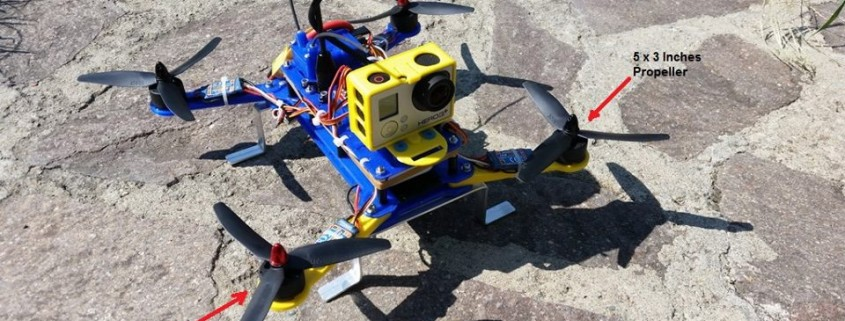 Il Quadricottero stampato in 3d con la stampante 3d Kentstrapper Galileo Smart da Alessio Giusti