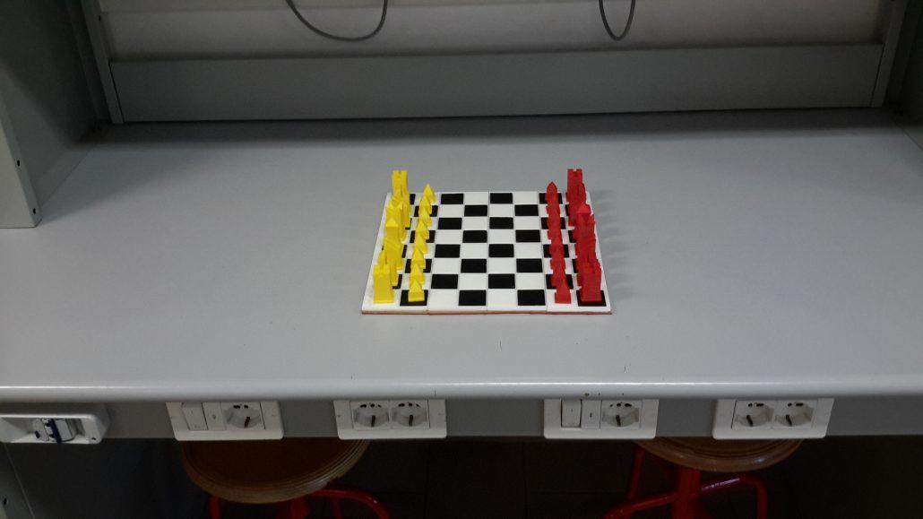 La scacchiera progettata e stampata dagli alunni della Balducci