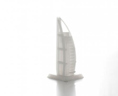 Modello di un edificio realizzato con la stampante 3D Kentstrapper Verve