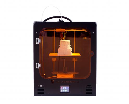 Vista Frontale della stampante 3D Kentstrapper Verve