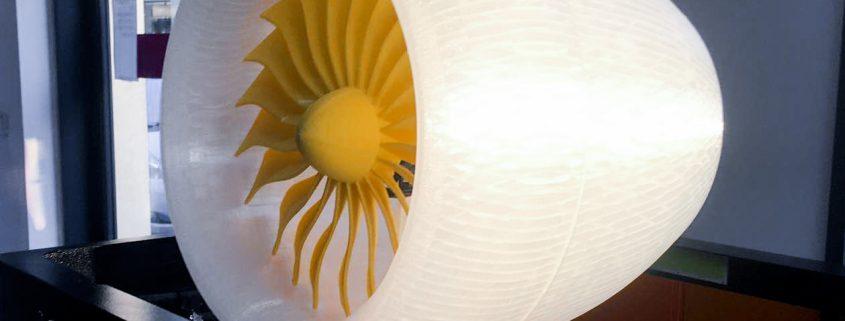 Modello di Turbina realizzato con la Stampante 3D Kentstrapper Mavis