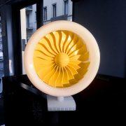 Modello di Turbina realizzato con la stampante 3D Kentstrapper Mavis v2-vista frontale