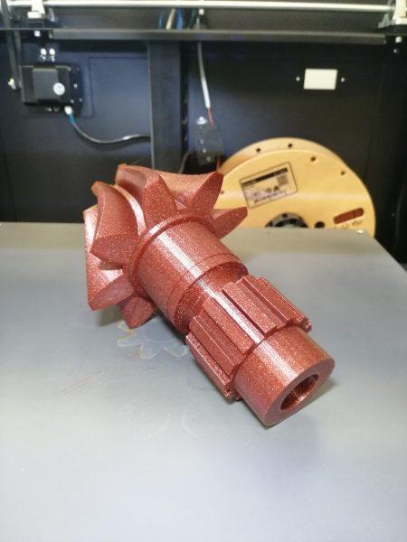 Modello Pignone Motore realizzato con la Stampante 3D Zero