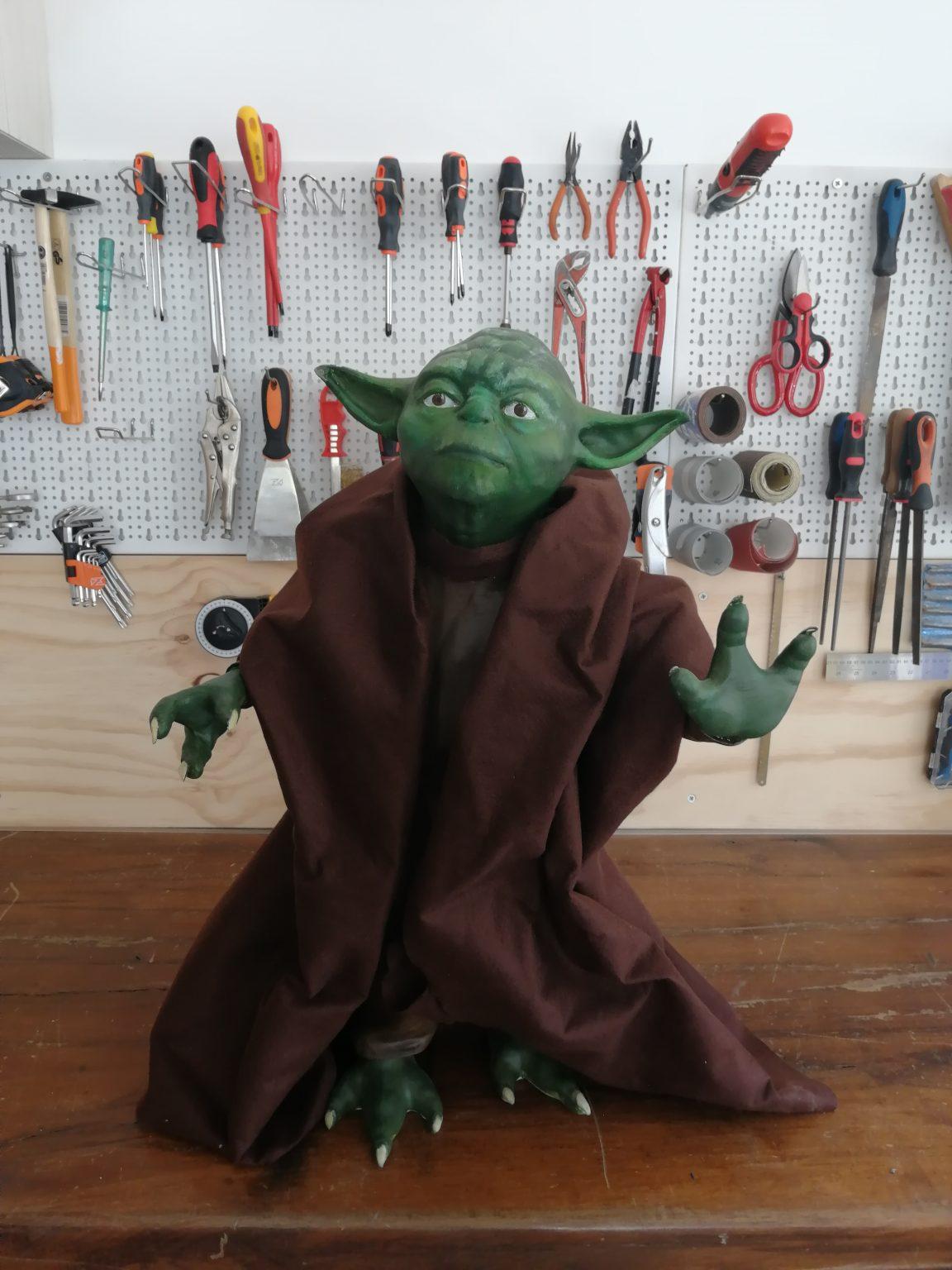 Modello Yoda Lifesize realizzato con la Stampante 3D Mavis