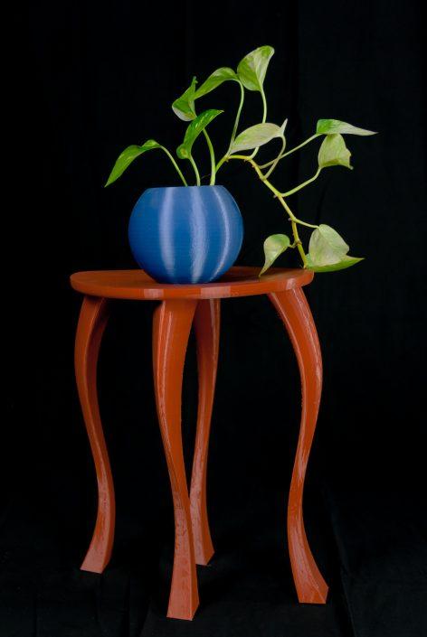 Tavolino e vaso