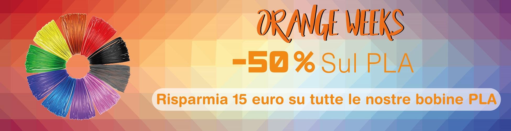Banner Orange weeks filamento