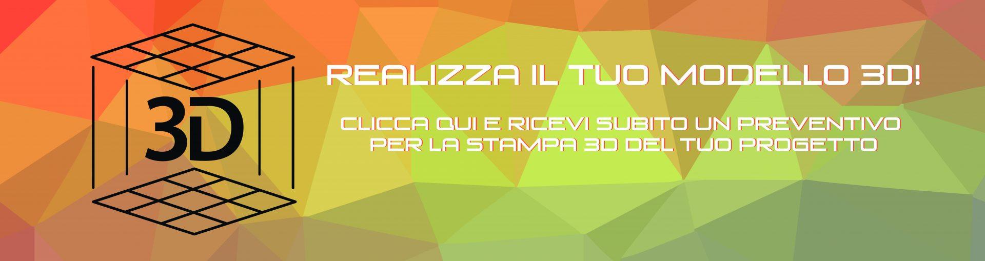 Banner Servizio di Stampa 3D